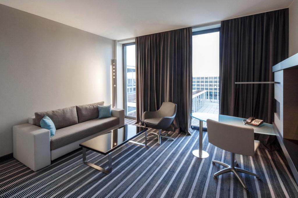 Interioraufnahme eines Zimmer in einem Hotel