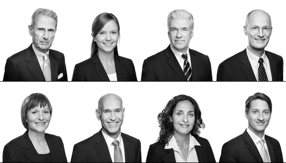 Mitarbeiterfotos in schwarz/weiß