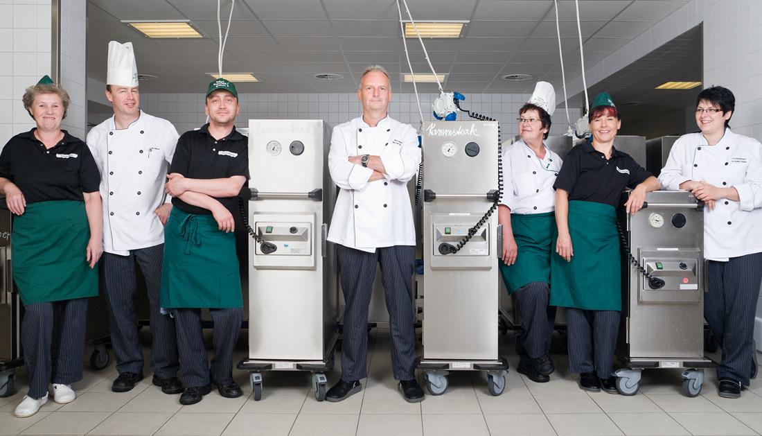 Businessfotografie Teamfoto Küchenpersonal