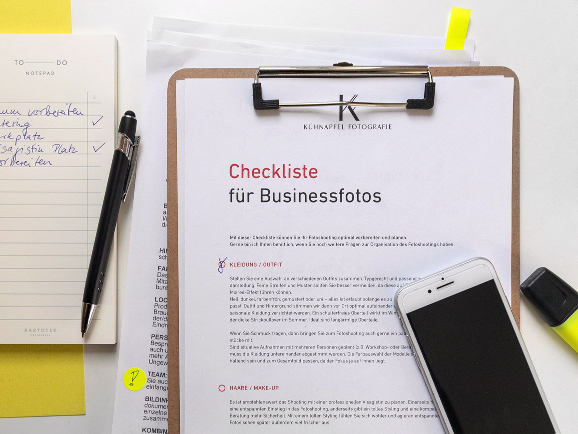 Businessfotos vorbereiten